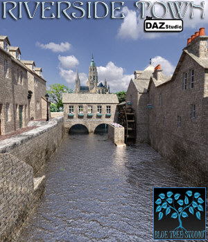 Riverside Town for Daz Studio 3D Models BlueTreeStudio
