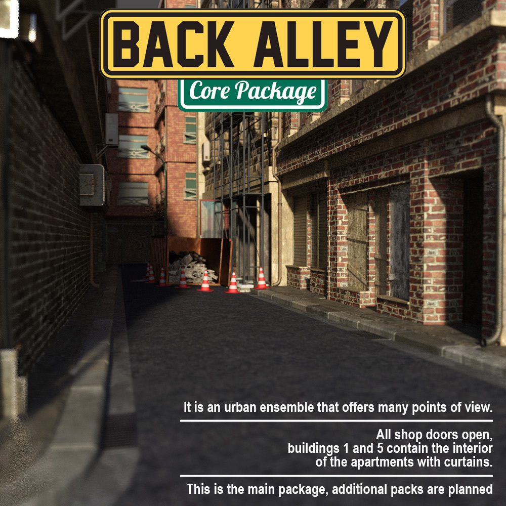 Back Alley Core Package for DS Iray