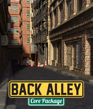 Back Alley Core Package for DS Iray 3D Models powerage