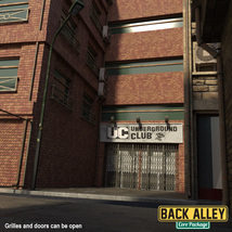 Back Alley Core Package for DS Iray image 1