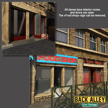 Back Alley Core Package for DS Iray image 3