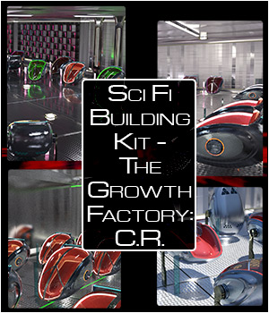 Sci Fi Building Kit - The Growth Factory: Containment Room 3D Models SWTrium