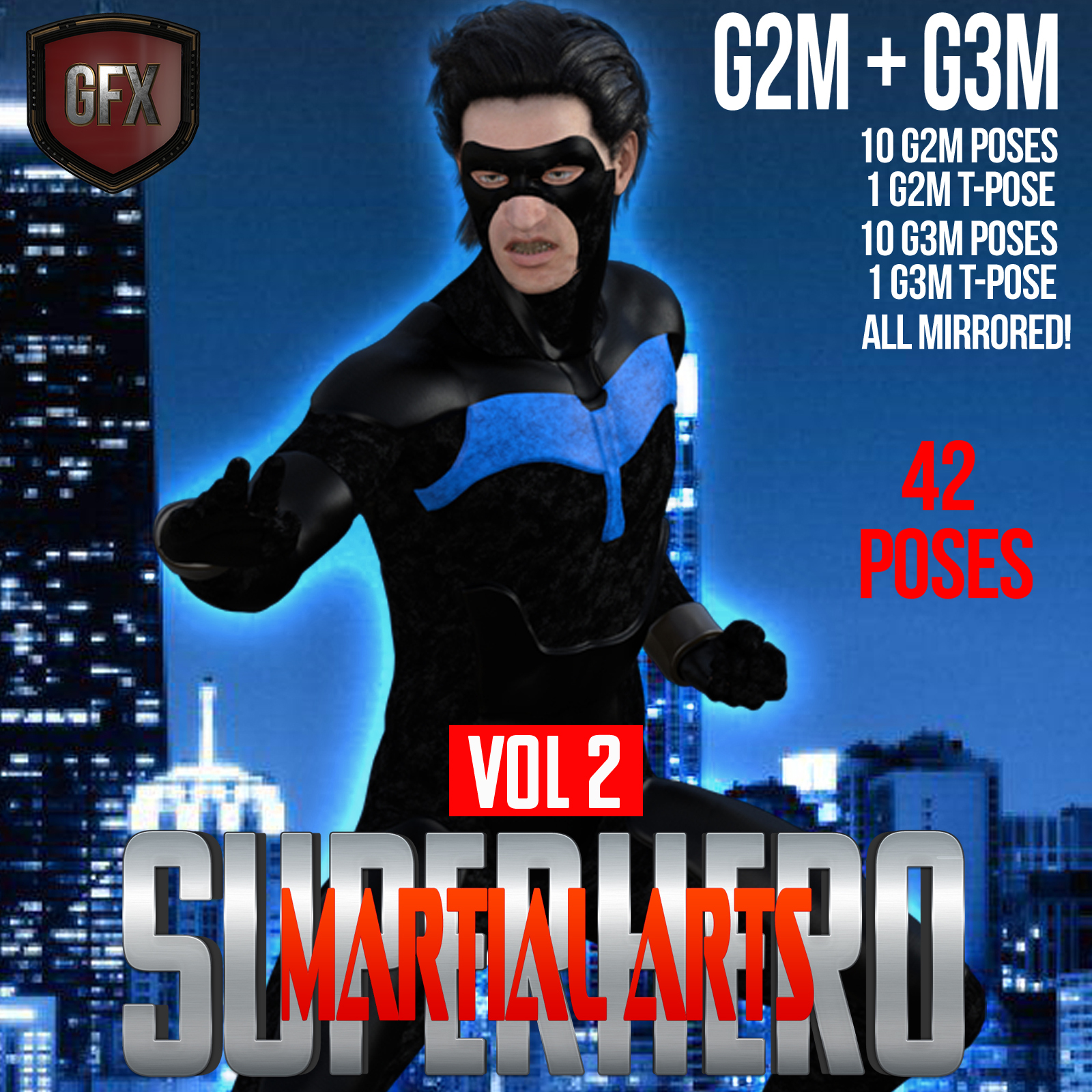 SuperHero Martial Arts for G2M and G3M Volume 2 by GriffinFX