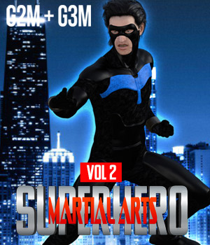 SuperHero Martial Arts for G2M and G3M Volume 2 3D Figure Assets GriffinFX