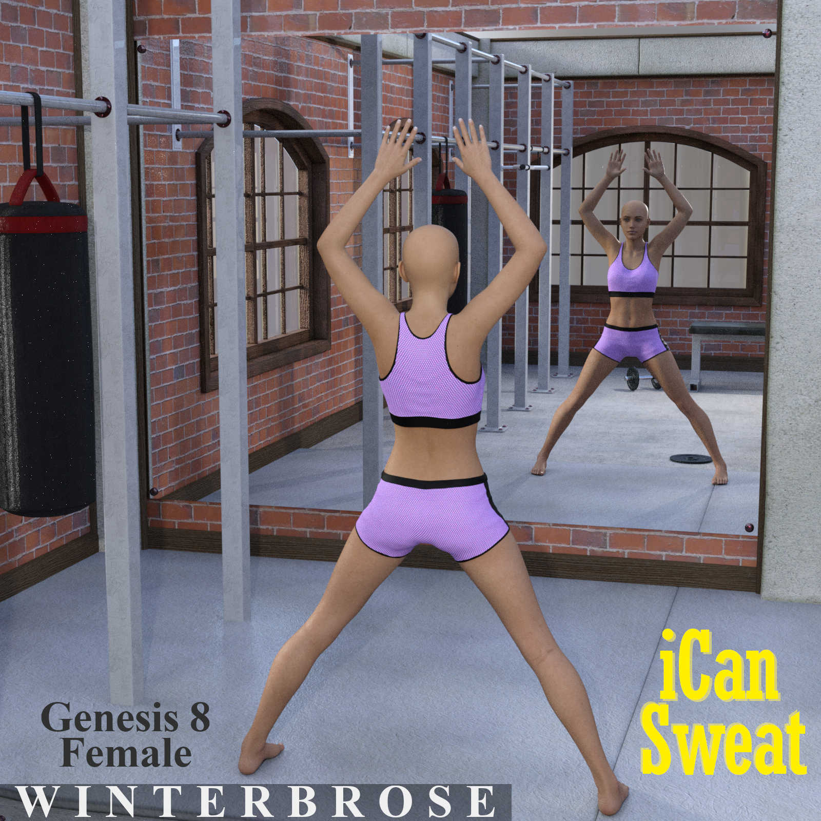 iCan SWEAT Poses for Genesis 8 Female (G8F) in Daz Studio by Winterbrose