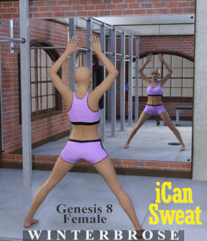 iCan SWEAT Poses for Genesis 8 Female (G8F) in Daz Studio 3D Figure Assets Winterbrose