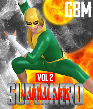 SuperHero Martial Arts for G8M Volume 2 3D Figure Assets GriffinFX