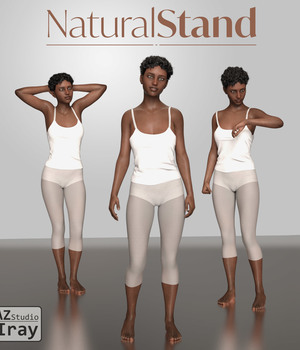Natural Stand - Motion Capture Poses for Genesis 8 Female 3D Figure Assets kalamanko