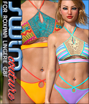 SWIM Couture for Roxana Lingerie G8F 3D Figure Assets Sveva