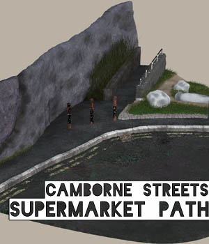 Camborne Streets - Supermarket Path 3D Models darkprojectworks