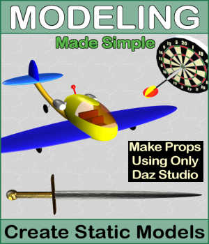 MODELING Made Simple Volume 1, Create Static Models with Daz Studio Tutorials : Learn 3D Winterbrose