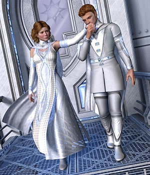 Stellar and Cosmic for Victoria 4 and Michael 4 3D Figure Assets Moyra