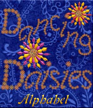 Harvest Moons Dancing Daisies Alphabet 2D Graphics Harvest_Moon_Designs