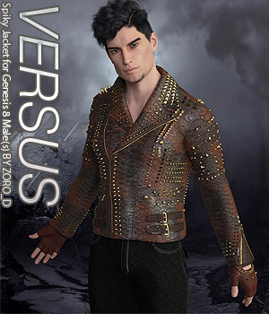 VERSUS - Spiky Jacket for Genesis 8 Male(s) 3D Figure Assets Anagord