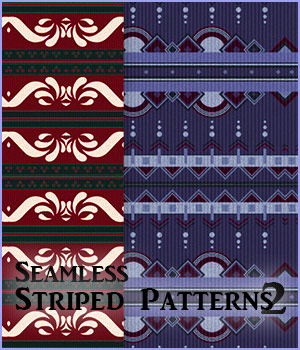 Seamless Striped Patterns2 2D Graphics Merchant Resources antje