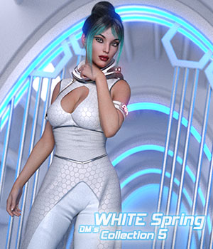 DMs WHITE Spring - Collection 5 3D Figure Assets 3D Models DM