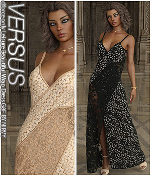 VERSUS - dforce only Leisure Beautiful Wrap Dress G8F 3D Figure Assets Anagord