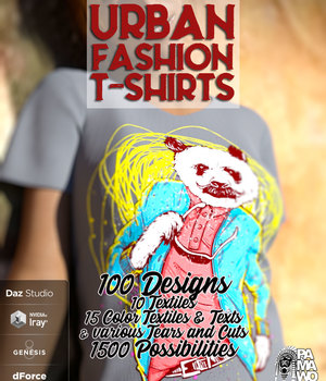 Urban Fashion T Shirt for GF8 3D Figure Assets pamawo