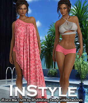 InStyle - dForce Mai Outfit 3D Figure Assets -Valkyrie-