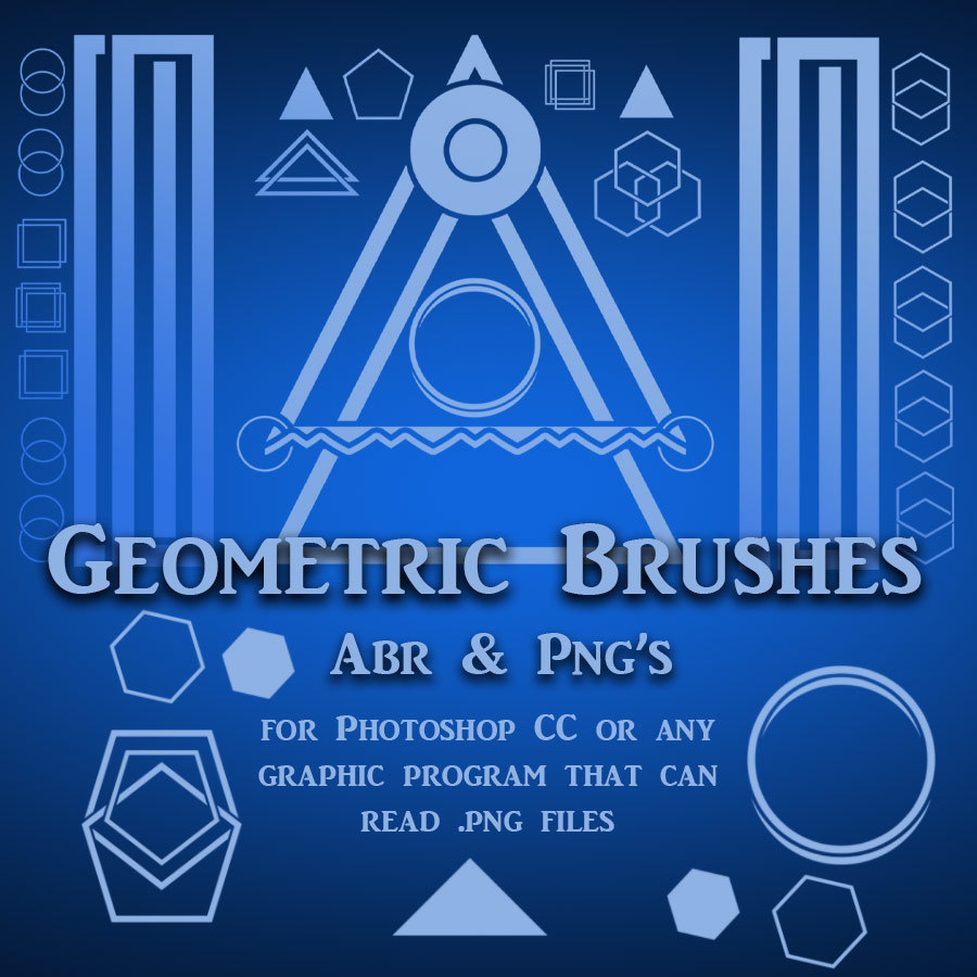 Geometric Brushes - PNGs by adarling97