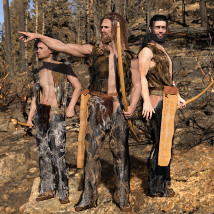 dForce Neolithic Outfits for Genesis 8 Male image 2