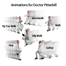 Animations for Nursoda's Doctor Pitterbil 3D Figure Assets anniemation