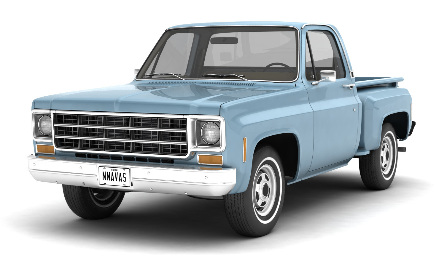 GENERIC STEP SIDE PICKUP TRUCK 10 - Extended License