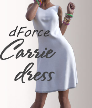dForce Carrie Dress for G8F 3D Figure Assets Arryn
