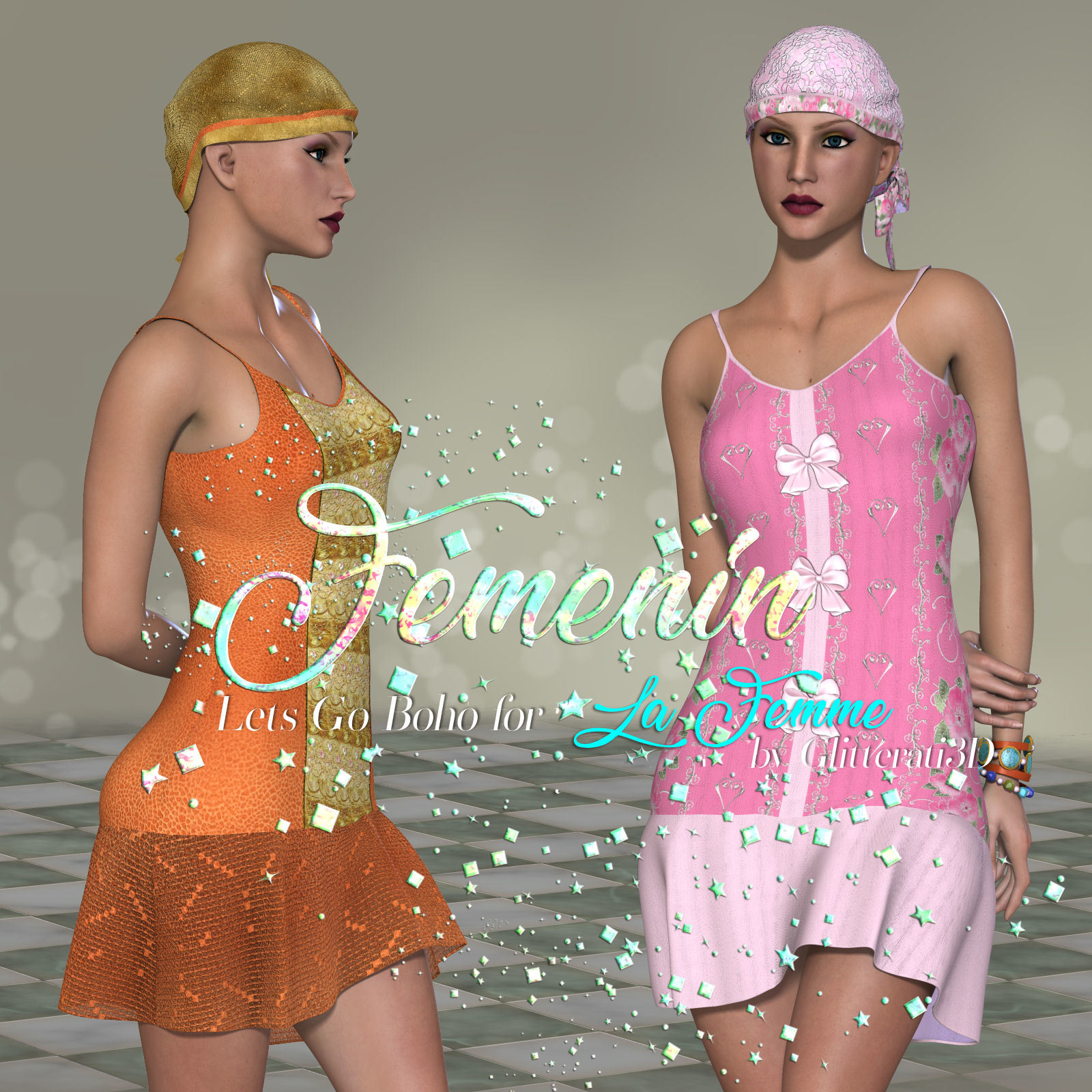 DA-Femenin for  Lets Go Boho for La Femme by Glitterati3D
