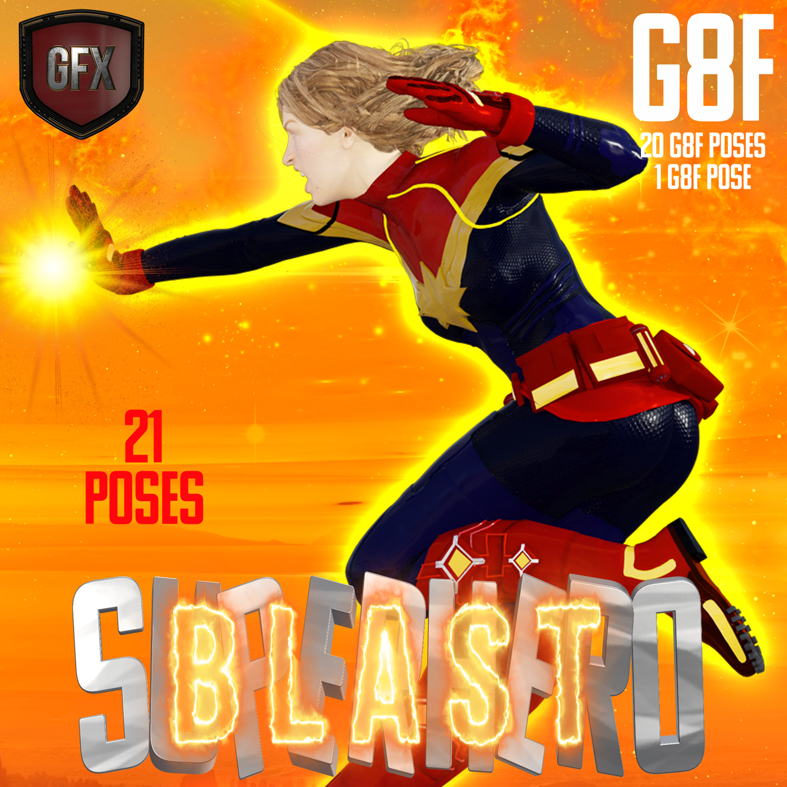 SuperHero Blast for G8F Volume 1 by GriffinFX