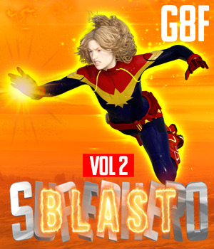 SuperHero Blast for G8F Volume 2 3D Figure Assets GriffinFX