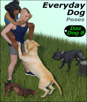 EVERYDAY DOG Poses for Daz Dog 8 in Daz Studio 3D Figure Assets Winterbrose