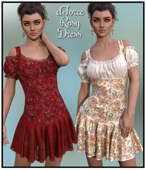 dForce - Rosy Dress for G8F