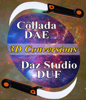 Convert Collada DAE Models to Daz Studio DUF Props Tutorials : Learn 3D Winterbrose