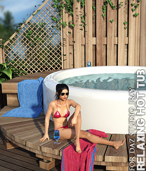 Relaxing Hot Tub Daz Studio 3D Models lilflame