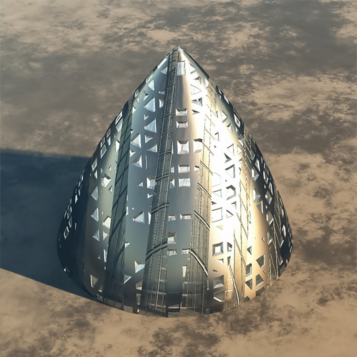 Alien Spaceship or Building  -  Extended License
