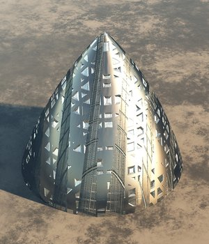 Alien Spaceship or Building  -  Extended License 3D Game Models : OBJ : FBX 3D Models Extended Licenses rolffimages
