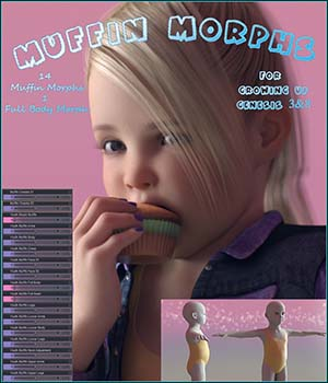 Muffin Morphs for Growing Up 3D Figure Assets Angel_Wings