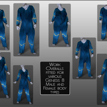 dForce Work Overalls for Genesis 8 Males and Females image 6