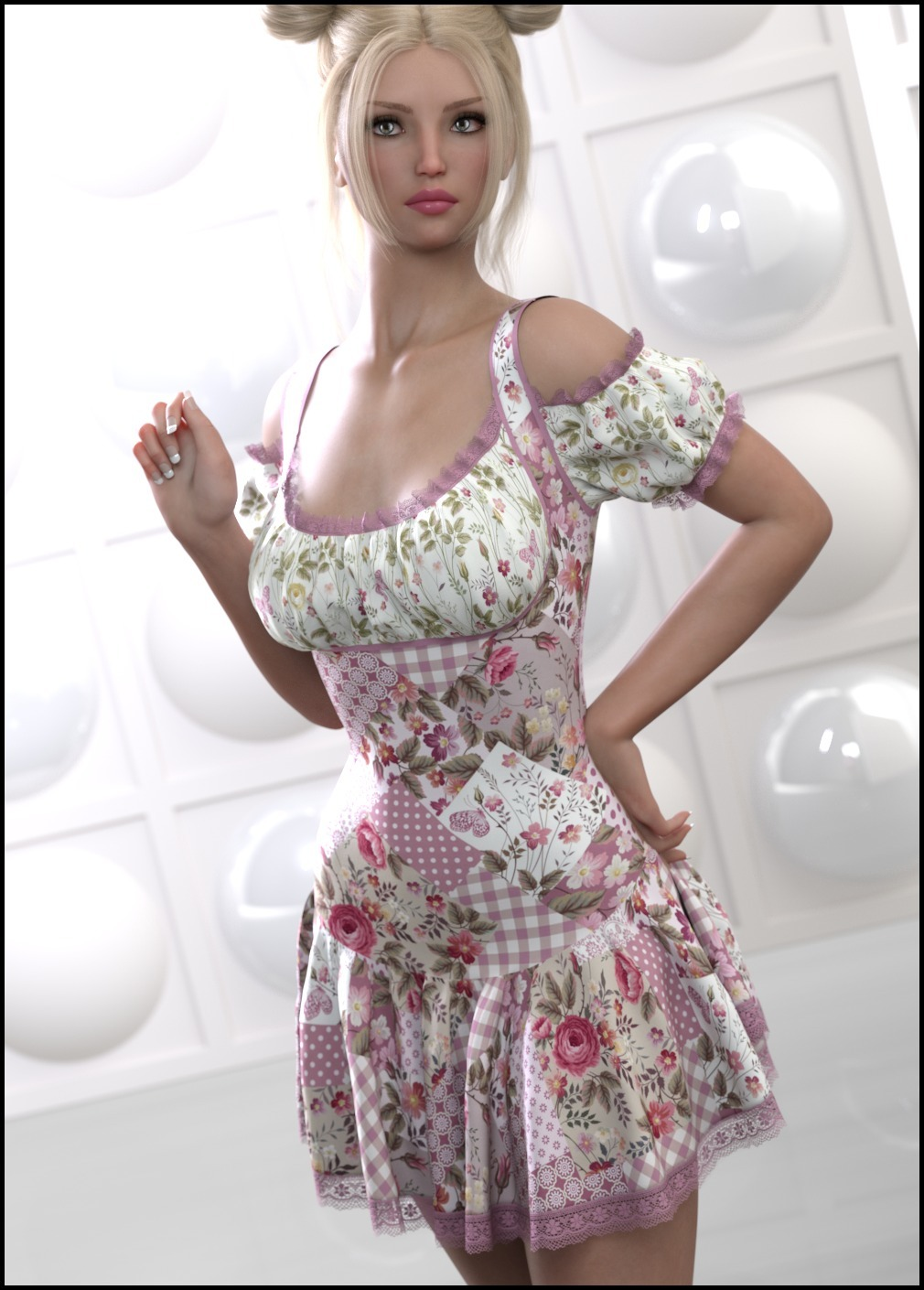 7th Ave: dForce - Rosy Dress for G8F