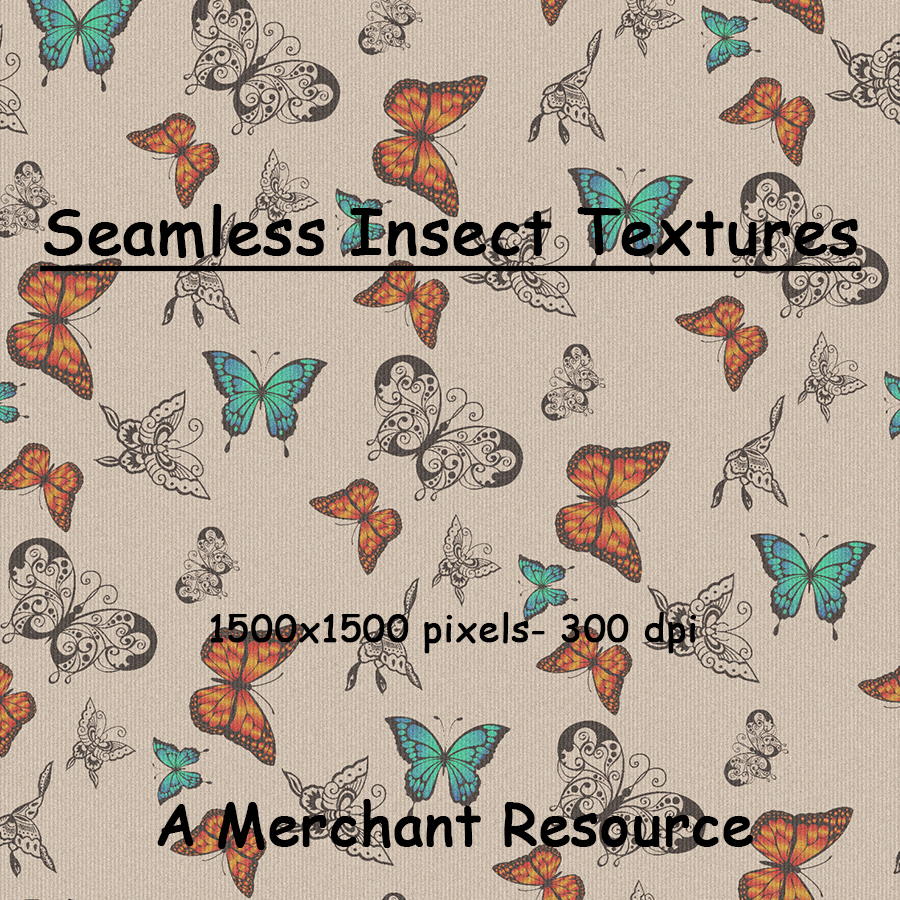 Seamless Insect Patterns