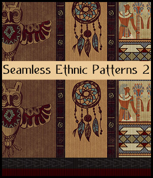 Seamless Ethnic Patterns 2 2D Graphics Merchant Resources antje