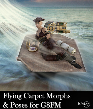 Flying Carpet Morphs & Poses for G8FM 3D Figure Assets biala