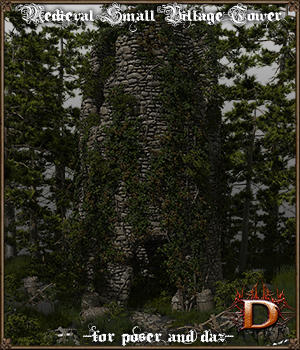 Medieval Small Village Tower 3D Models Dante78