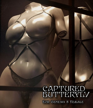 Captured Butterfly for Genesis 8 Female 3D Figure Assets Disciple3d