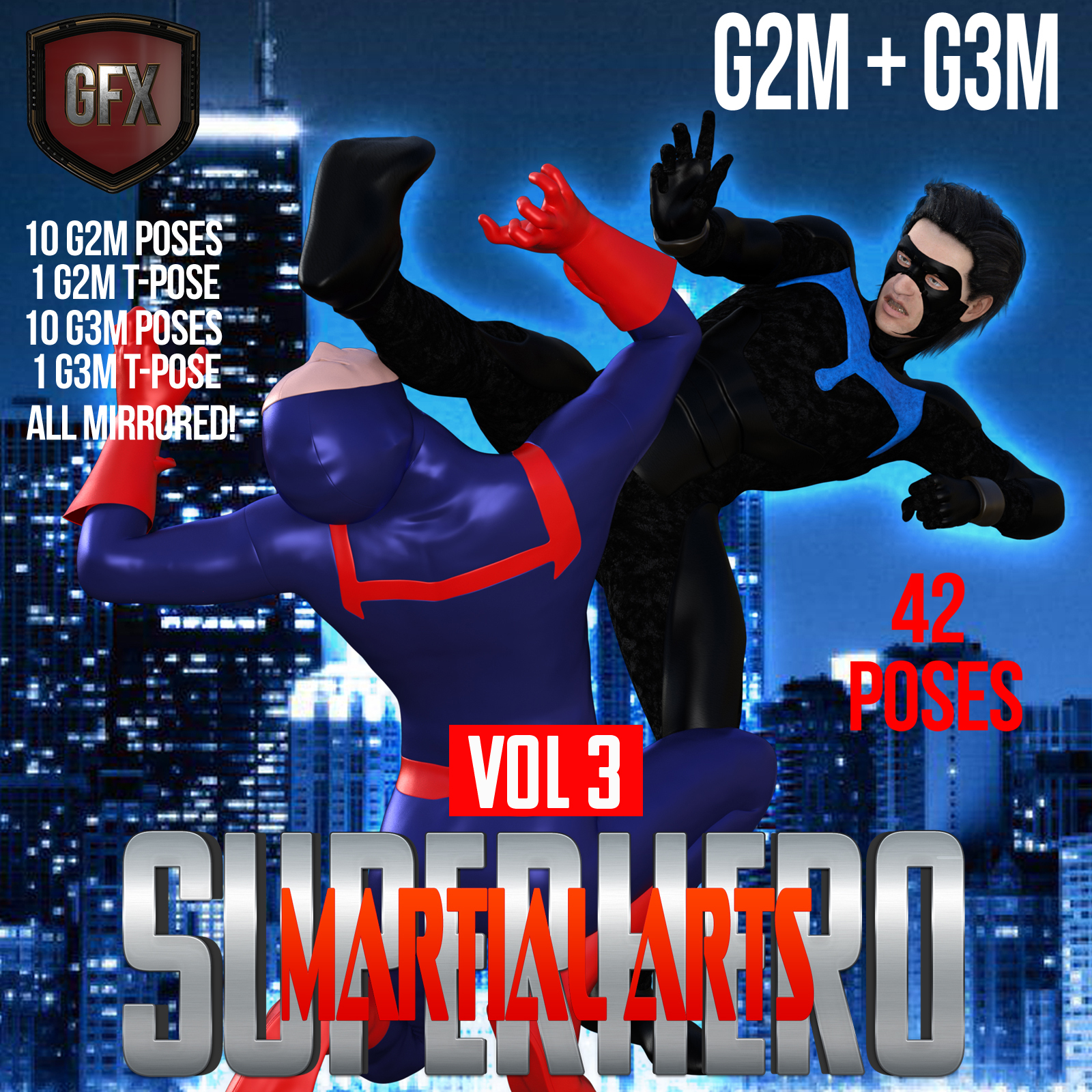 SuperHero Martial Arts for G2M and G3M Volume 3 by GriffinFX