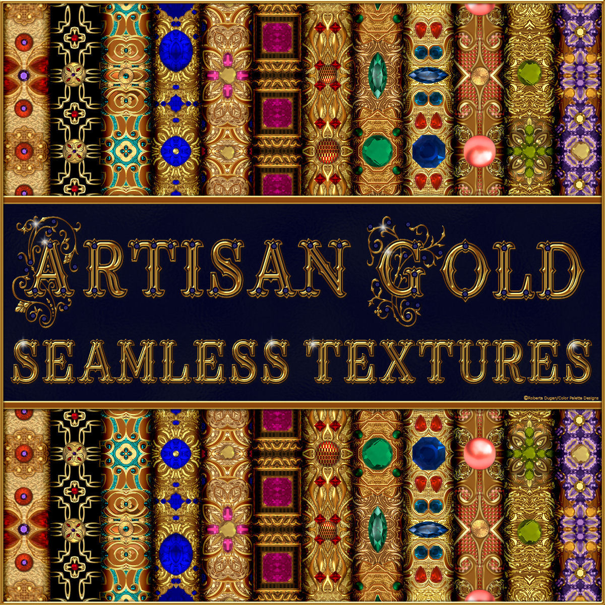 Artisan Gold Seamless Textures Pack by fractalartist01