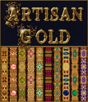 Artisan Gold Seamless Textures Pack 2D Graphics Merchant Resources fractalartist01