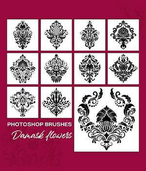 PB - Damask Flowers 2D Graphics Merchant Resources Atenais