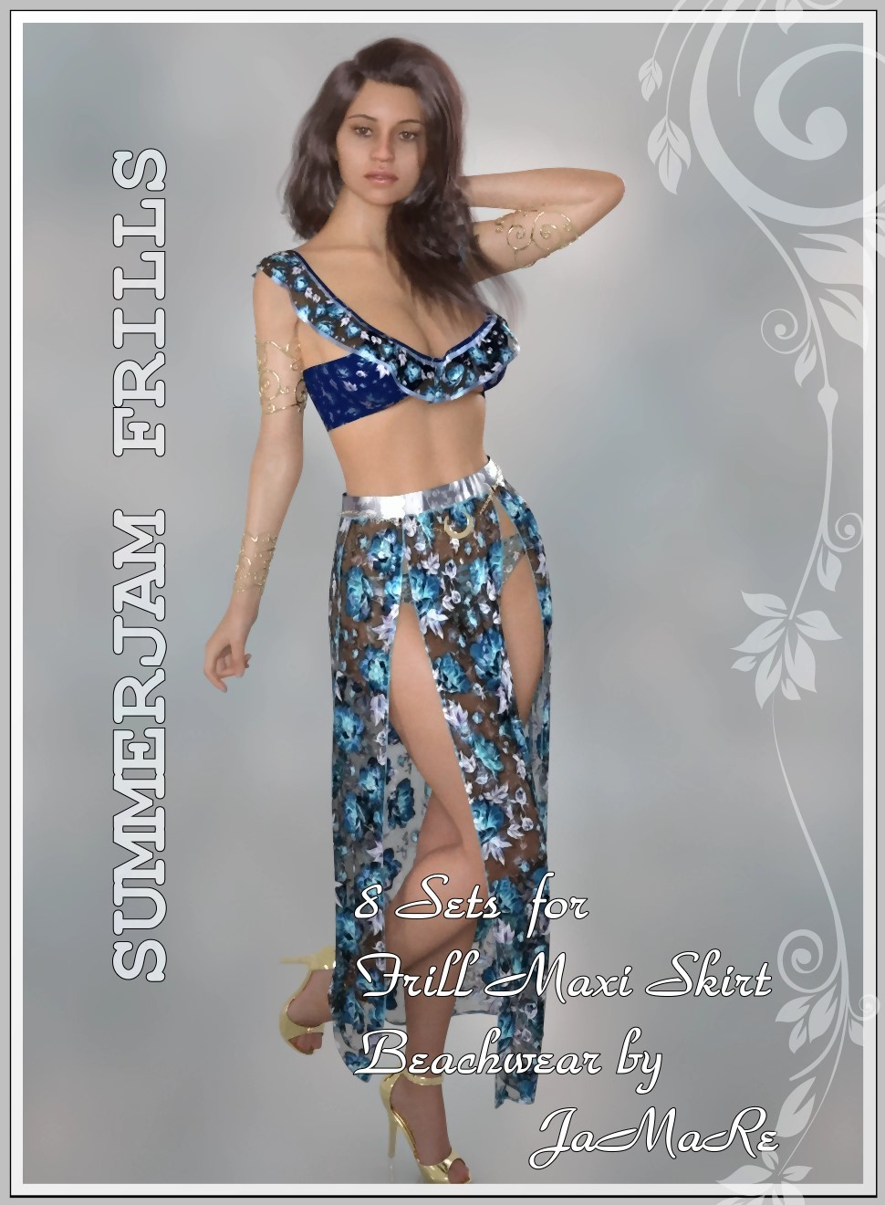Summerjam- JMR dForce Frill Maxi Skirt Beachwear